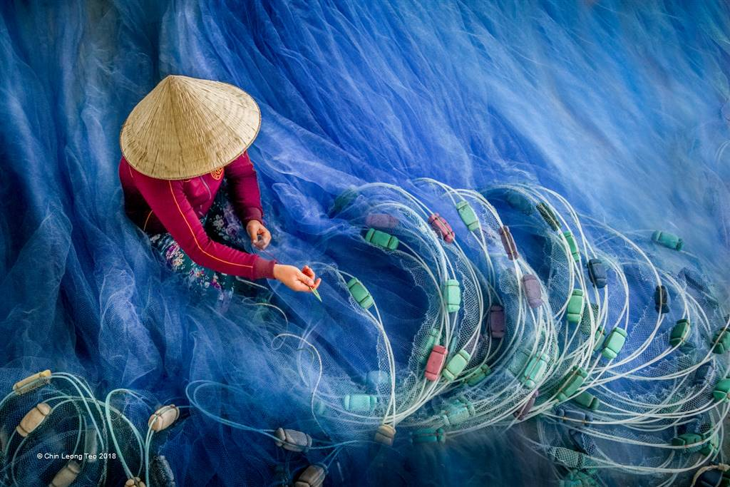 Chin Leong Teo – Blue Fishing Nets 2 – Open Colour