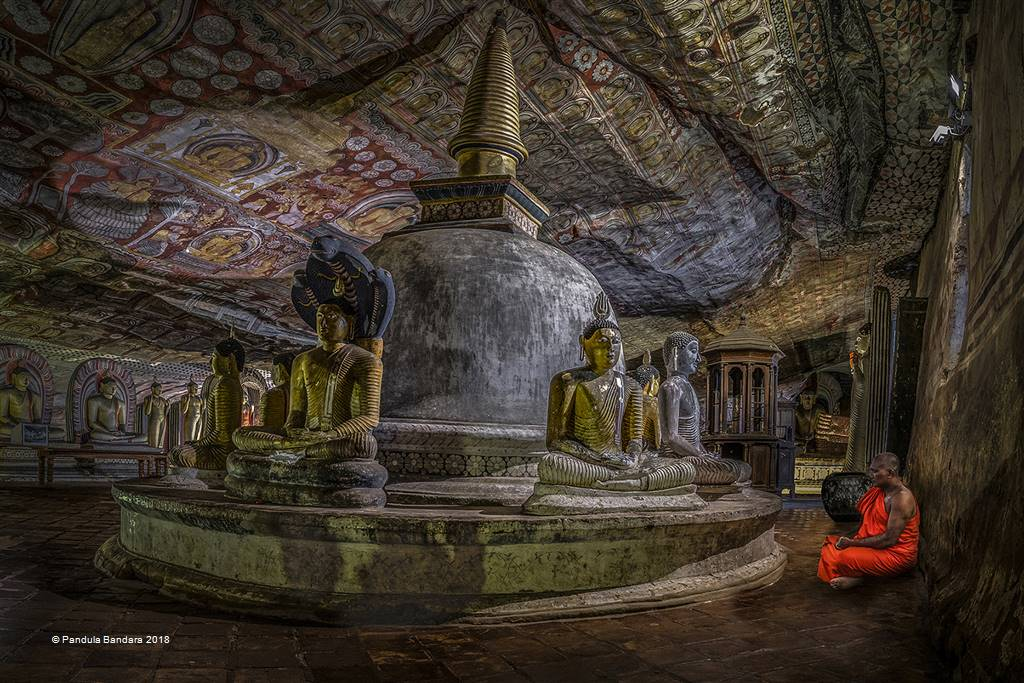Pandula Bandara – Devoted Monk at Cave Temple – Photo Travel